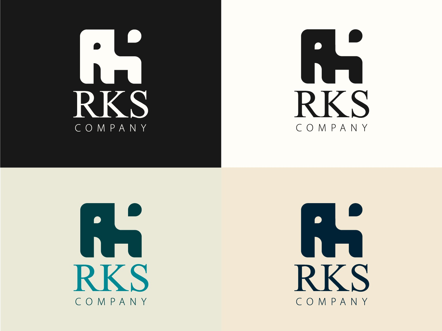RKS illustration branding logo vector design
