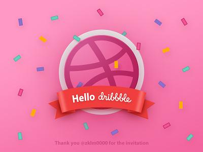 Hello Dribbble! thanks invite hello debut
