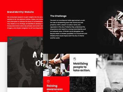 Case Study: Love Beyond Walls website web development web design ui user interface ux user experience graphic design digital marketing branding