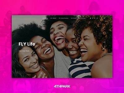 Case Study: FLY Life web development web design graphic design branding mentor mentoring education non-profit nonprofit woman women girls