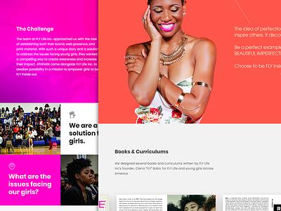 Case Study: FLY Life women woman web development web design non-profit nonprofit mentoring mentor graphic design girls education branding