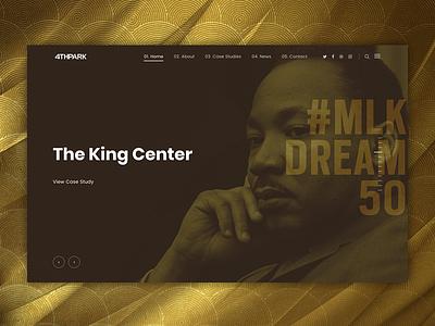 Case Study: The King Center website web development web design ux user interface user experience ui graphic design digital marketing branding