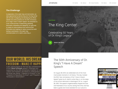 Case Study: The King Center website web development web design ux user experience  user interface ui graphic design digital marketing branding