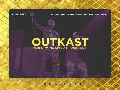 Case Study: Funk Fest rapper musician concert musicfestival hiphop festival music logo graphic design web development web design branding