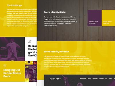 Case Study: Funk Fest website web design and development web design rapper musician musicfestival music logo hiphop graphic design festival concert branding and identity branding