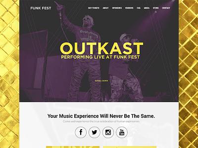 Website: Funk Fest hiphop rapper musicfestival festival musician music logo website web development graphic design web design branding