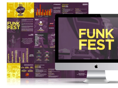 Sponsorship: Funk Fest layout design musicfestival festival sponsorship artist rapper musician music graphic design branding