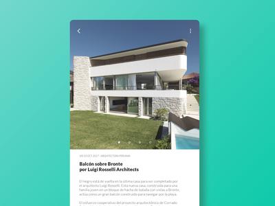 Architecture app ui