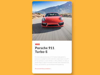 UI supercars app design