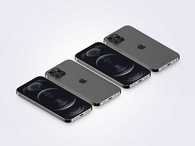 Free Isometric iPhone 12 Pro Mockup ui-ux ui design ux ui freebies mockup template mock-up mockups mockupriver mockup psd mockup free free mockup mockup iphone 12 pro