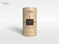 Craft Paper Tube Mockup