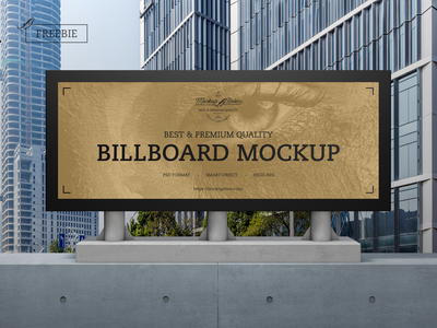 Outdoor Advertisement Billboard Mockup