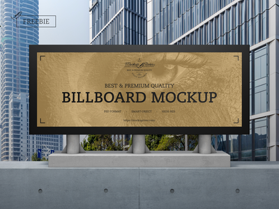 Outdoor Advertisement Billboard Mockup advertising billboard mockup psd print template stationery mockups logo identity freebie free mockup psd mockup free free mockup mock-up mockup frame font download branding