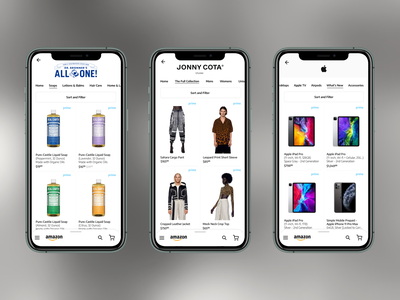 Balancing brand identity and Amazon's marketplace -Redesign pt2 ecommerce mobile design mobile ui mobile marketplace amazon ux uxdesign uiux uidesign ui redesign concept designer design dailyui app