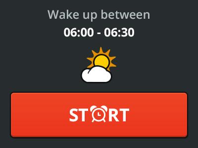 Alarm App team-interloop alarm app start icon weather ui ux