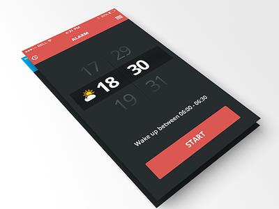 iOs7 Alarm app team-interloop ios7 alarm iphone ui gui ux prototype minimal
