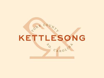 Kettlesong Logo brand identity logo community south carolina wren bird