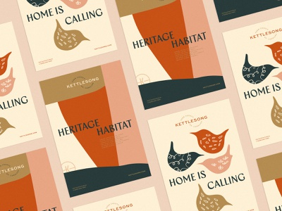 Kettlesong Posters typography identity brand print poster home community south carolina bird