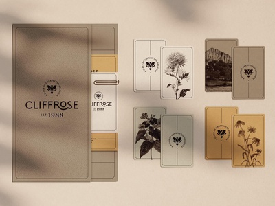 Cliffrose—Check In Folder branding brand identity typography layout logo print hotel zion national park