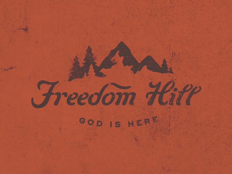 Freedom Hill logo illustration church pnw religion freedom hill mountain pines