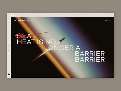 Intergalactic Website render space branding intergalactic web design