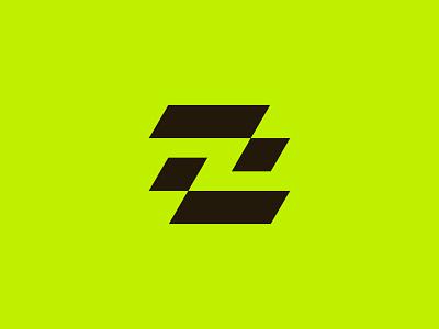 ZombieBox Brandmark geometric zombie branding