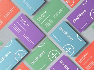 BlvdHome Stationery logo home goods print branding