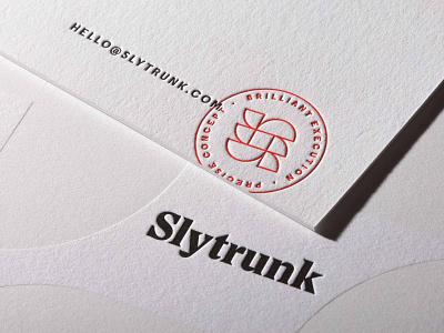 Slytrunk branding print letterpress brand development software s logo