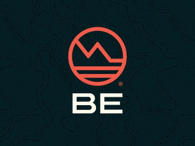 Be Logo design brand branding southern california mountain adventure outdoor logo be