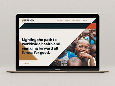 Ensign Website Mock e shapes geometric africa ux ui design web public health ensign