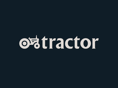 Tractor Beverage Co. animation type identity brand geometric beverages custom type