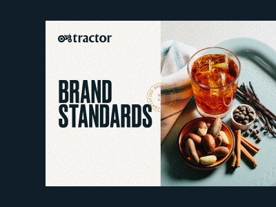 Tractor Brand Standards print branding beverages tractor brand guide logo typography identity