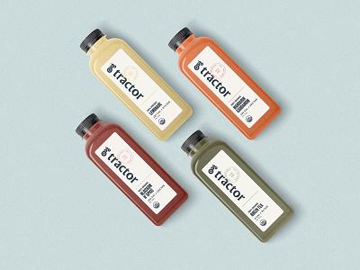 Tractor Beverage Co. Bottles beverages tractor packaging print branding