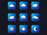 Modern Weather Icon Design