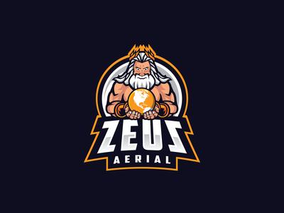 Zeus Aerial - Mascot Logo