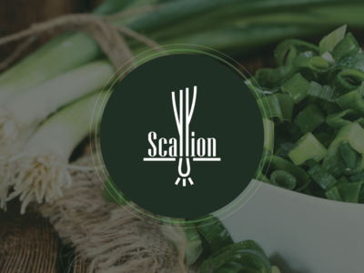 Wordmark : Scallion branding logomark logotype scallions logo onion logo green onions graphic design scallion wordmark