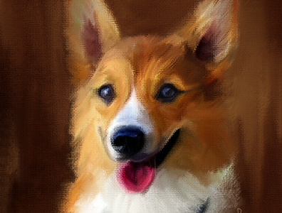 Corgi Portarit corgipainting portrait painting portrait petportarit dog petpainting corgi oilpainting painting digitalportrait