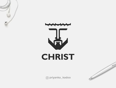 """LOGO FOR """"CHRIST"""" inspiration logo design best freelance logotype web graphics corporate custom font mark branding process web graphic creative logos gif clean logos icons color ideas web graphic branding process symbol design vector simplified branding minimalistic logo mark logo minimal brand and identity graphic  design"""
