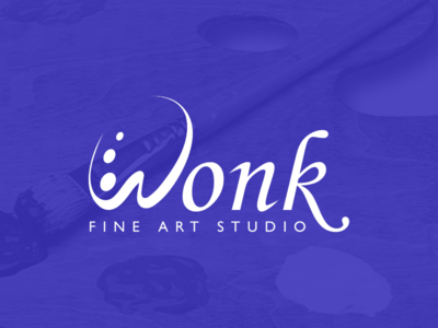 Wordmark for 'WONK' graphicdesgn mark alphabet letterw wlogo brandidentity branding logo wordmark wonk