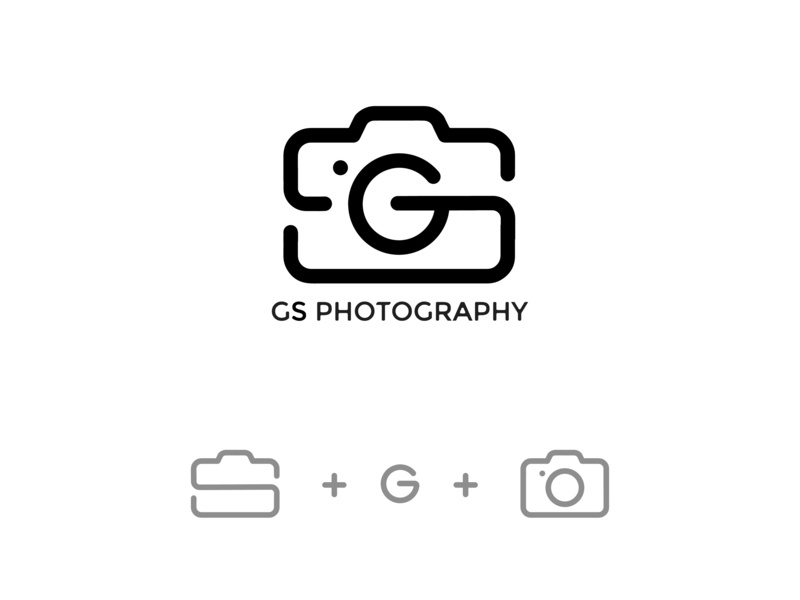 GS photography logo photograhy typography branding minimal minimalistic logo vector icon symbol design graphic  design brand and identity