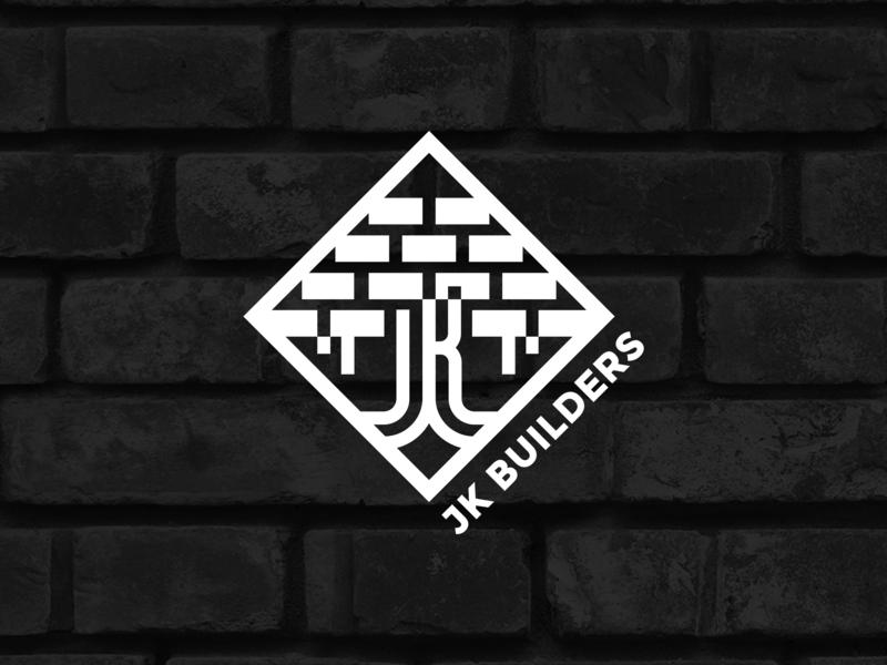 JK Builders logo building company jk builders foundation builder national tree banyan tree building construction logo mark symbol design minimalistic logo minimal graphic  design vector brand and identity