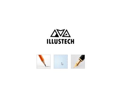 Logo for IllusTech multiconcept illustration writing technology design minimalistic