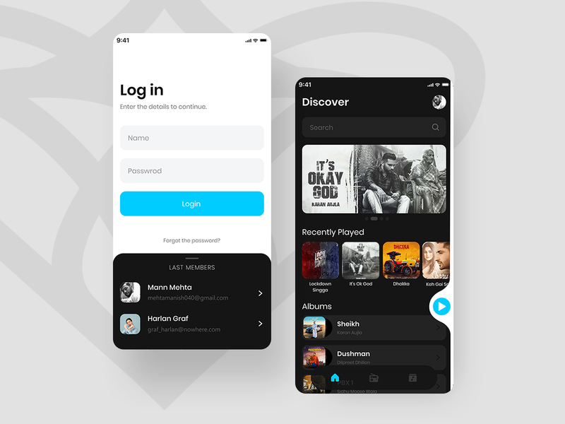 Myscical Music App music application music app design music app ui music ui app design music app music player userinterface appuidesign appui uiux ux layout uxger uidesign design ui music