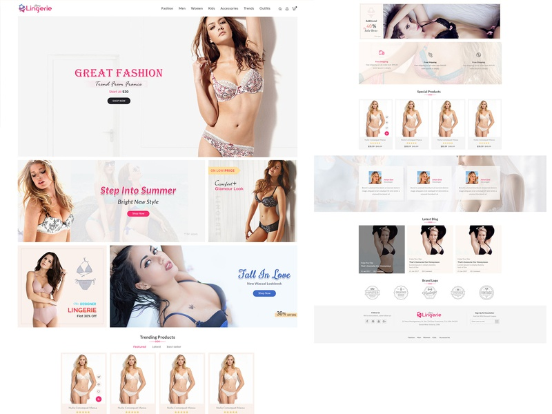 Lingeri Theme on Shopify Theme lingerie underwear swimsuit swimming sport wear shapeware responsive nightwear inner wear html5 fitness fashion clothing design ecommerce crossfit clothing bootstrap beach house bikini beach bar