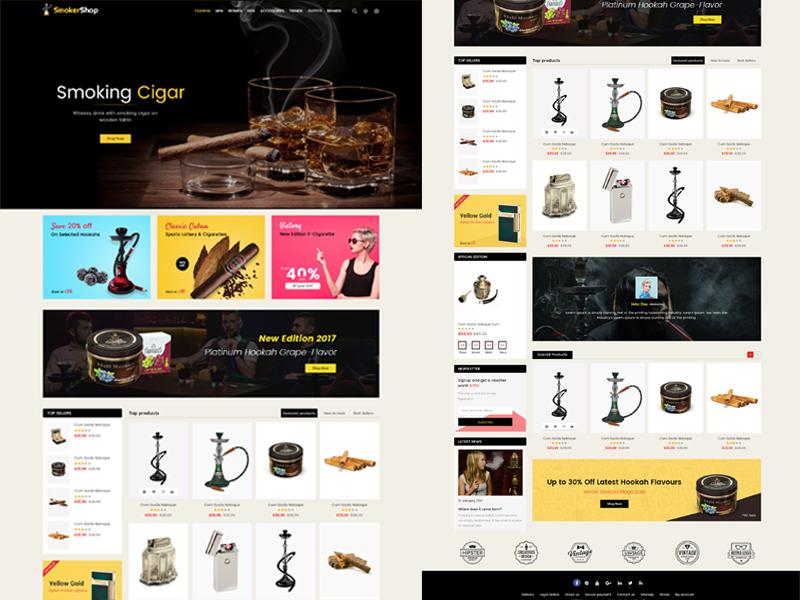 Tobacco art minimal lettering vector web illustration animation branding website logo design