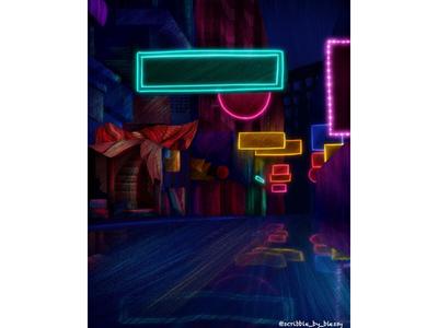 Colourful neon