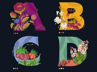 36daysoftype #botanicalalphabets typography digitalartist children book illustration illustration art dribbble best shot 36days 36dayoftype dribbble design drawing vector illustration