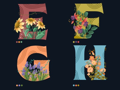 36daysoftype drawing digitalartist artist colors dribbble 36 days typography design typography art typographic 36 days of type 2021 floral art flower illustration 36daysoftype07 36dayoftype