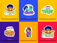 Friendship day Stickers