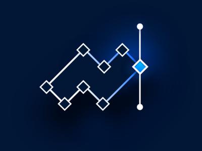 N znak nvls identity illustration logo